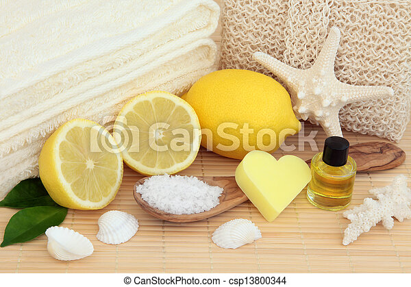 Lemon Spa Beauty Treatment - csp13800344