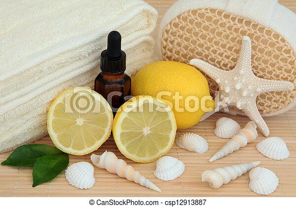 Lemon Spa Treatment - csp12913887
