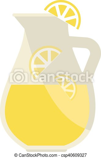 Lemonade jar vector illustration. - csp40609327