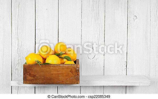 Lemons in a box - csp22085349