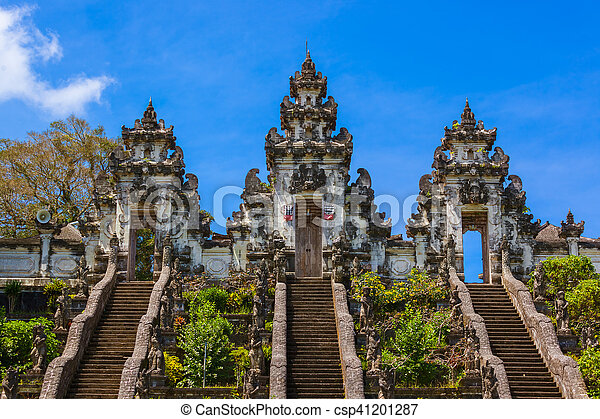 Lempuyang temple - bali island indonesia - travel and architecture background.