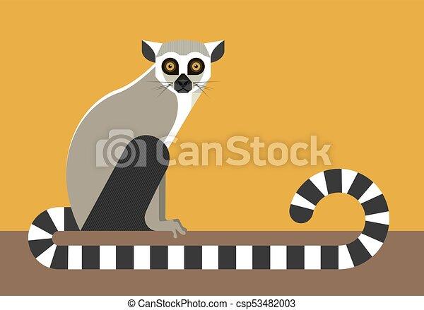 lemur, seduta - csp53482003