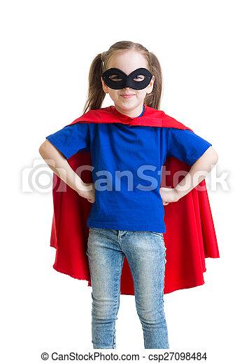 lenni, superhero, igénylés, gyermek - csp27098484