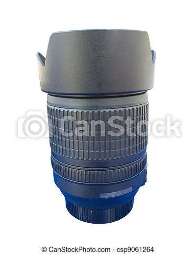lens for dslr camera isolated on white - csp9061264