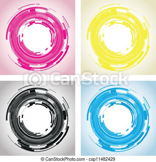 lente, abstratos, câmera - csp11482429