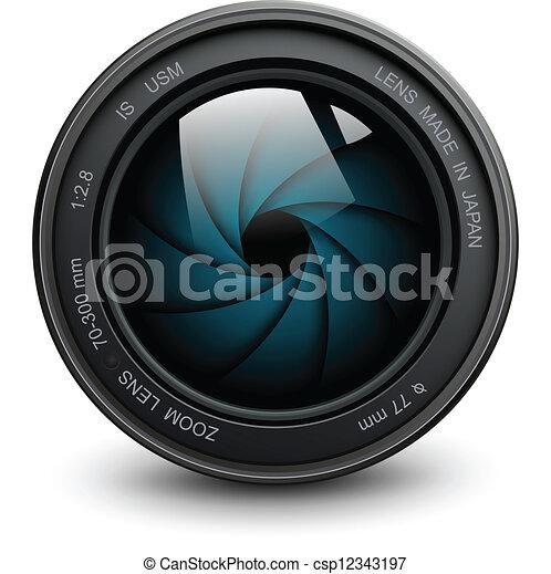 lente, câmera - csp12343197