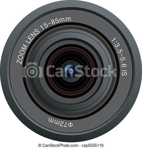 lente, câmera, vetorial - csp5555116