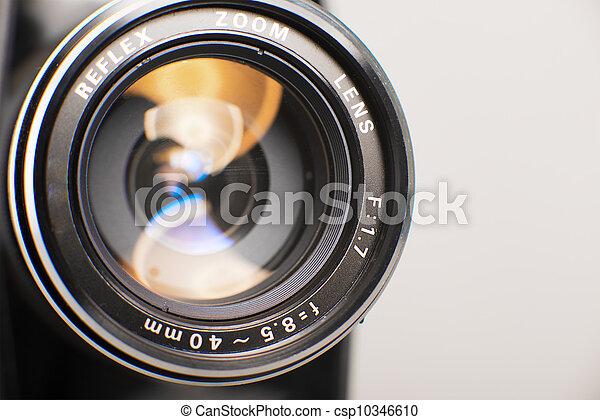 lente, chiudere, macchina fotografica, su - csp10346610