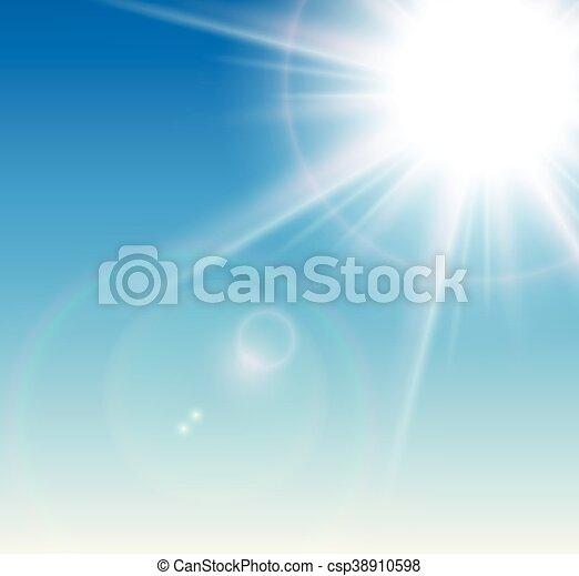 Sol con bengala - csp38910598