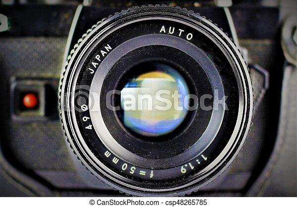 lente, immagine, macchina fotografica - csp48265785