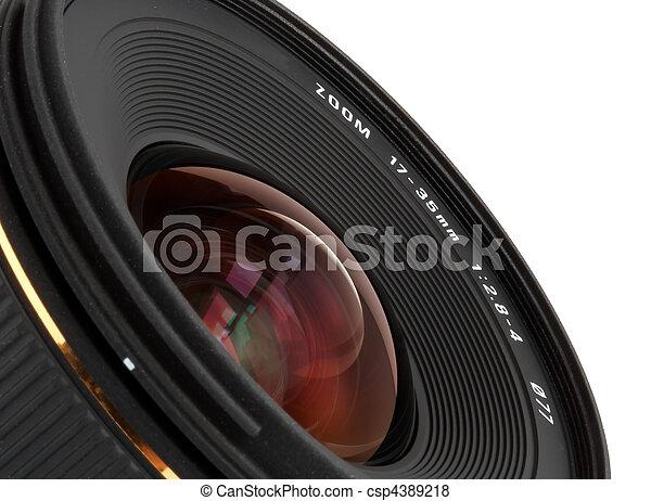 lente, macchina fotografica, closeup, largo-angolo, dslr - csp4389218