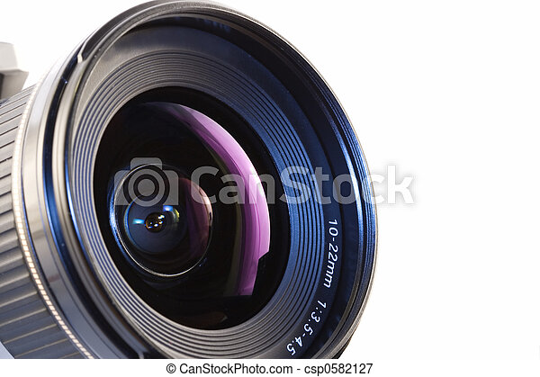 lente, macchina fotografica - csp0582127