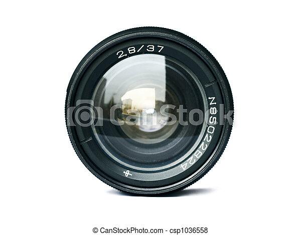 lente, macchina fotografica - csp1036558