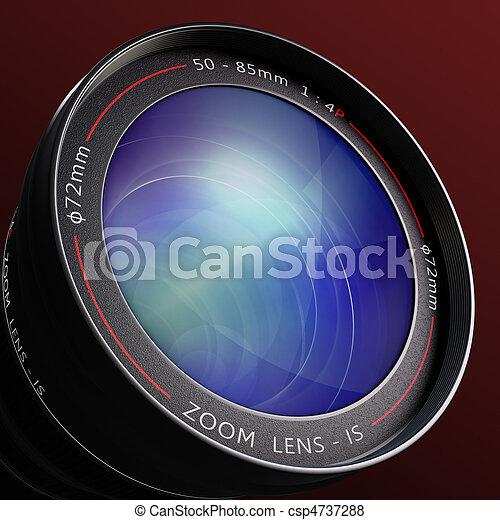 lente, macchina fotografica - csp4737288