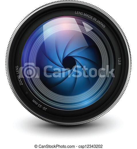 lente, macchina fotografica - csp12343202
