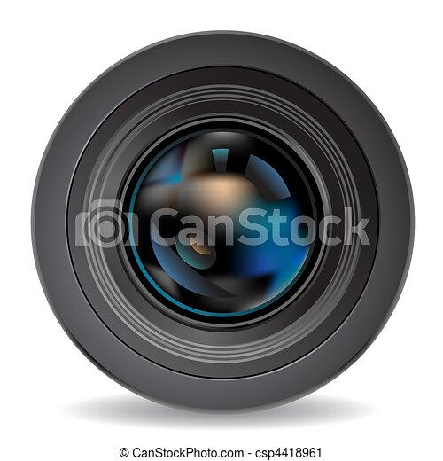 lente, macchina fotografica - csp4418961