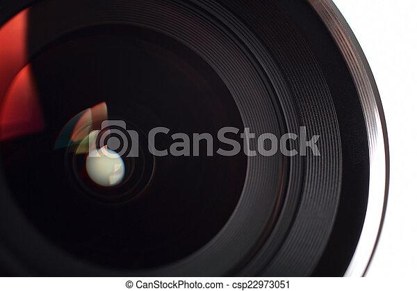 lente, primo piano, macchina fotografica - csp22973051