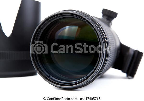 lente, primo piano, macchina fotografica - csp17495716