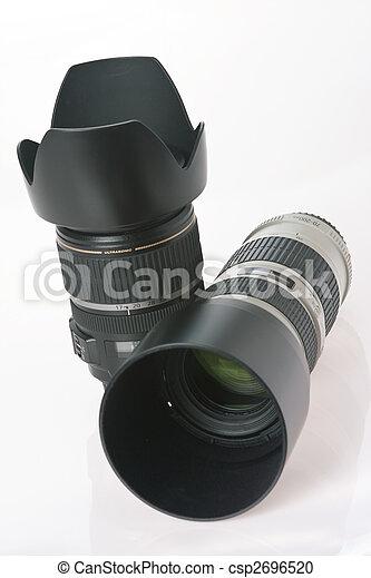 lente, professionale, macchina fotografica, due - csp2696520