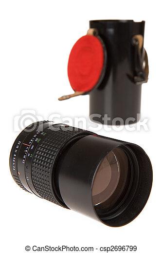 lente, vecchio, macchina fotografica, manuale - csp2696799