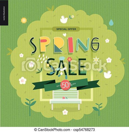 lente, verkoopaffiche - csp54768273