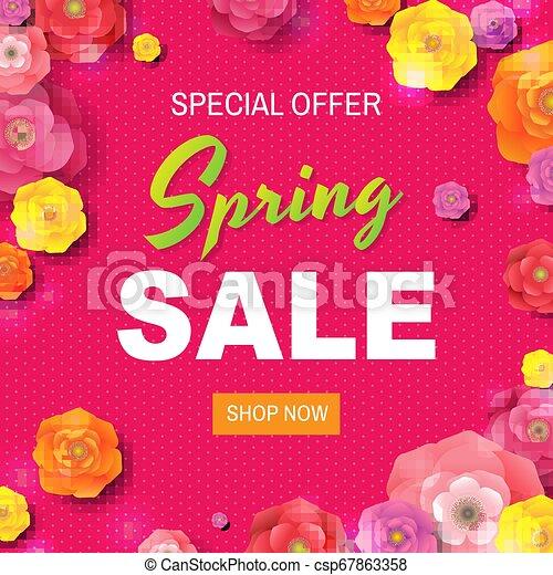 lente, verkoopaffiche, tekst - csp67863358