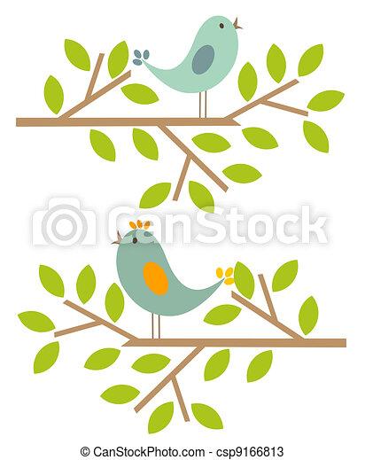 lente, vogels - csp9166813