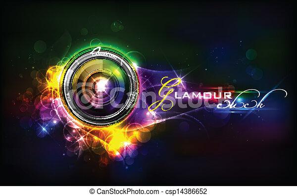 lentille, appareil photo - csp14386652