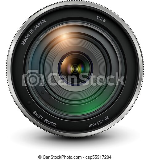lentille, appareil-photo photo - csp55317204