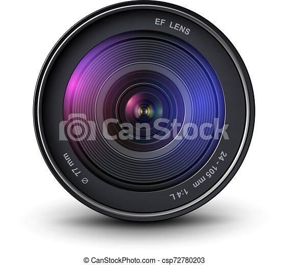 lentille, appareil-photo photo - csp72780203