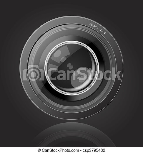 lentille, appareil-photo photo - csp3795482