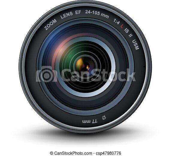 lentille, appareil-photo photo - csp47980776