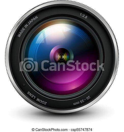lentille, appareil-photo photo - csp55747874