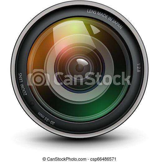 lentille, appareil-photo photo - csp66486571