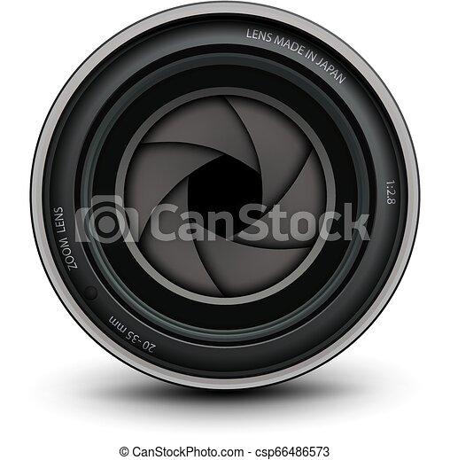 lentille, appareil-photo photo - csp66486573