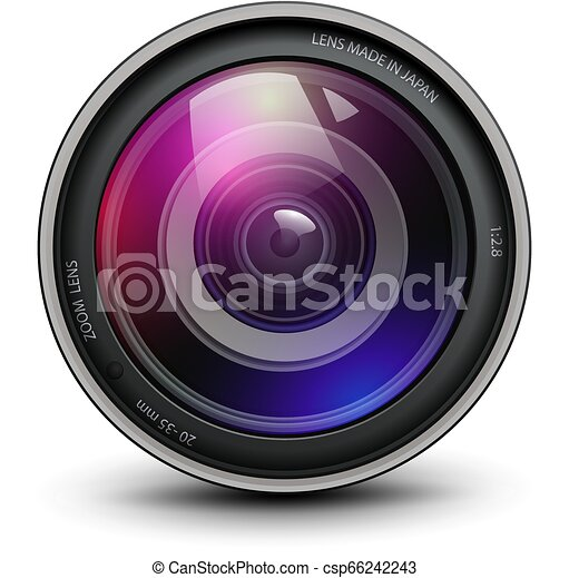 lentille, appareil-photo photo - csp66242243