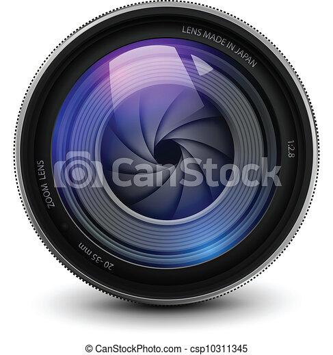 lentille, appareil photo - csp10311345