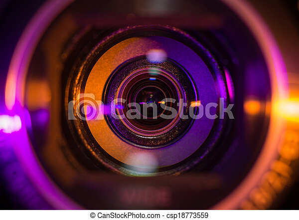 lentille, caméscope - csp18773559