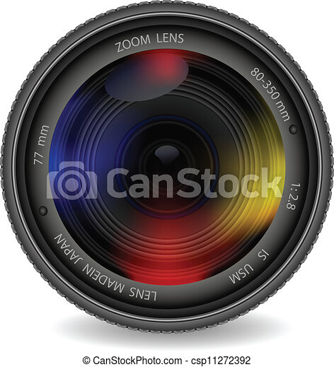 lentille, photo, volet, appareil photo - csp11272392