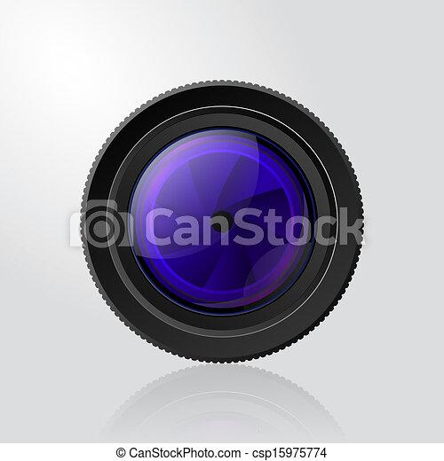 lentille, photo, volet, appareil photo - csp15975774