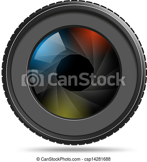 lentille, photo, volet, appareil photo - csp14281688