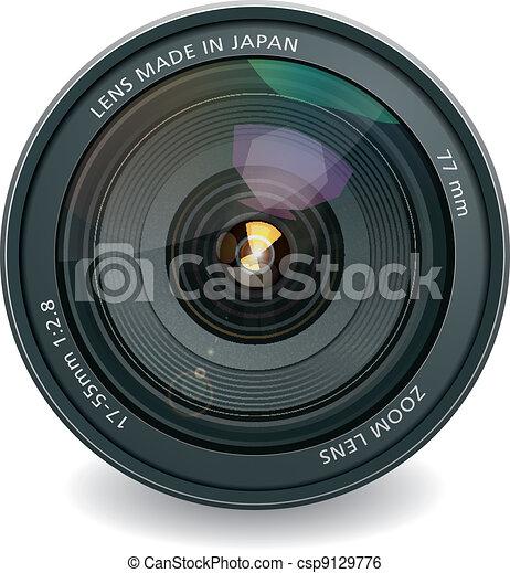 lentille, professionnel, photo - csp9129776