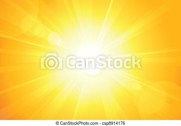 lentille, soleil, clair, vecteur, flamme - csp8914176