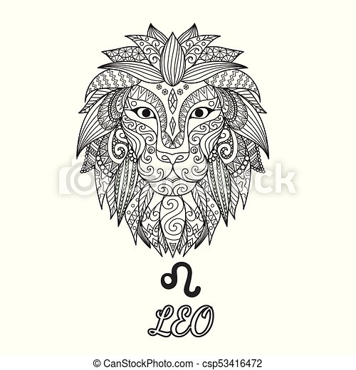 Leo Constellation Drawing