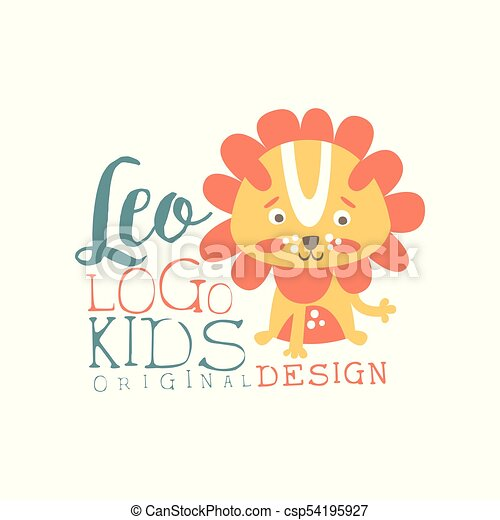 Leo Kids Logo Original Design Baby Shop Label Fashion Vector