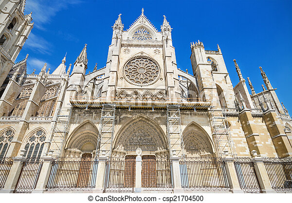 Leon Cathedral, Spain. - csp21704500