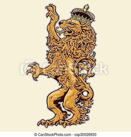 leone, araldico - csp30026930