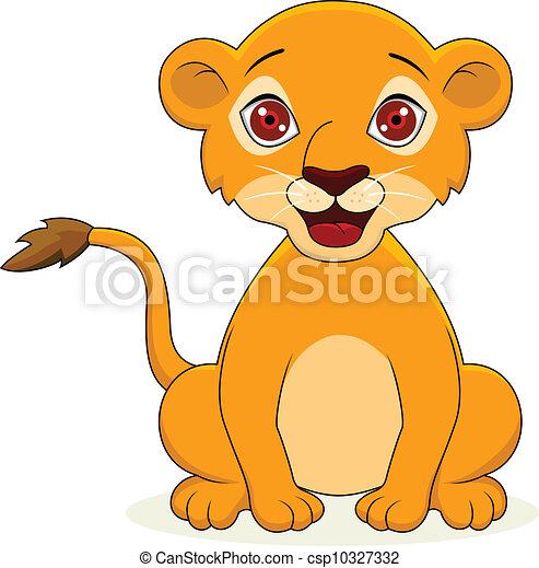 leone bambino, cartone animato - csp10327332