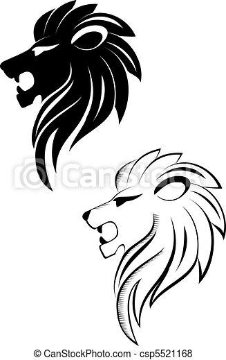 leone, testa - csp5521168