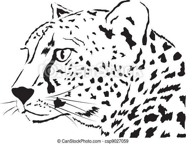 Abstract Face Leopardvector Illustration Eps Vectors